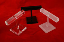Solid Acrylic Bangle Bracelet T-Bar Jewellery Display Stand 10cm Tall