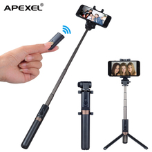 APEXEL rechargeable remote control selfie stick tripod stand / phone holder