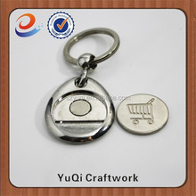 Alloy Metal Type Coin Holder Keychain metal brand car logo key chain