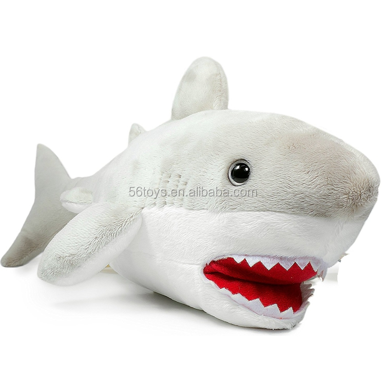 the Great White Shark 16 Inch Large Stuffed Animal Plush stuffed shark