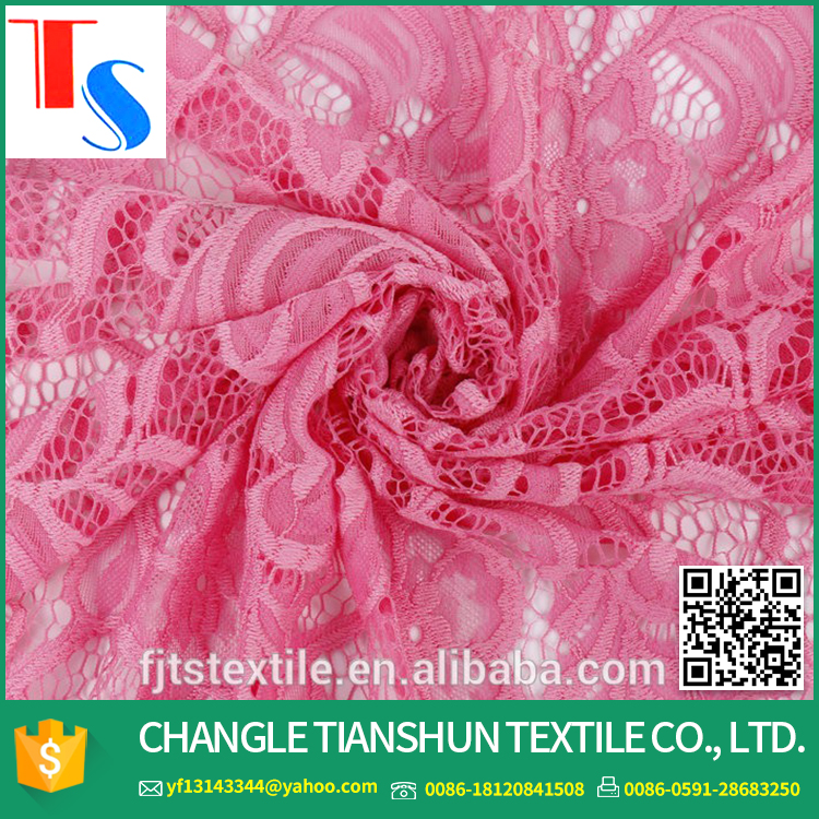 High Quality African Pink Tulle Lace Fabric For Wedding Dress