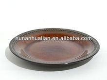 2014 Year Hunan Hualian New Designed Ceramic Salad plate with embossed beaded edge