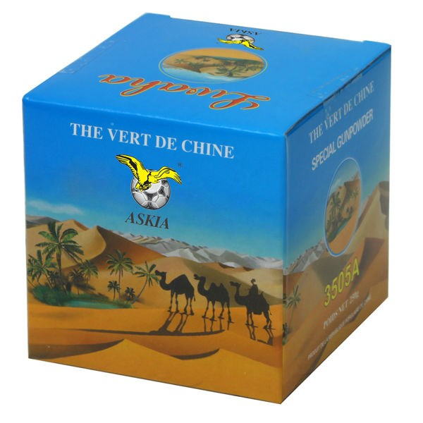 manufacturer china green tea gunpowder 3505A box packing cheap price to morocco