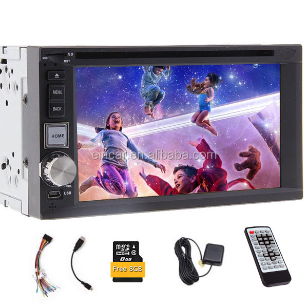 6.2 inch Car DVD GPS Player Auto Radio Navigation 8 GB Map Card Headunit Double 2 din in Dash Stereo Video Audio BT SWC iPod TV
