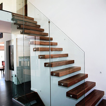 Modern Folding Stairs / Build Floating Staircase with Stair Railing