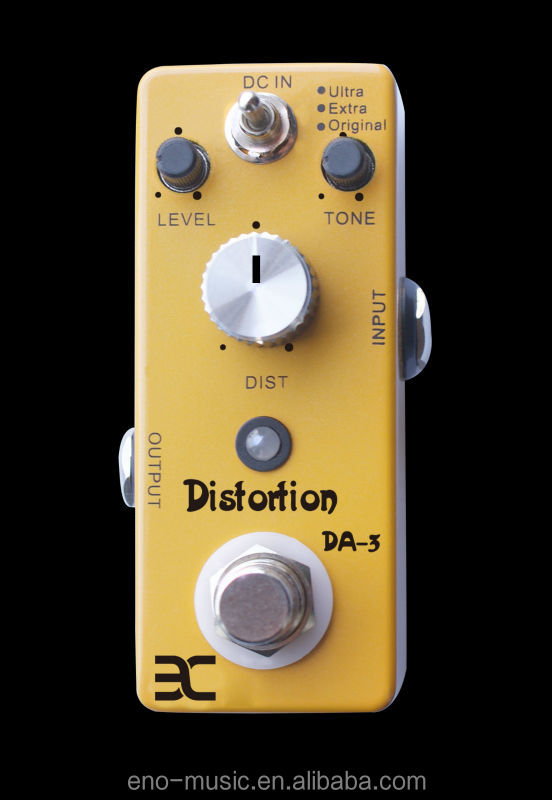 2014 Best Selling Mini Distortion Guitar Effects Pedal China Manufacture