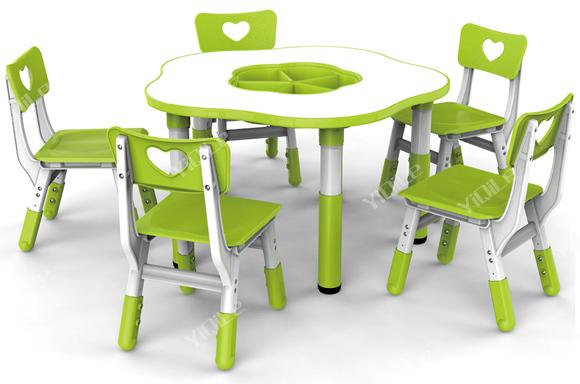 Prune forme de fleur enfants tude table et chaise enfant for Table et chaise pour enfants