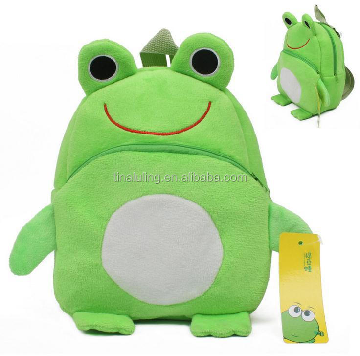 Wholesale children school bag Green Frog kids school backpack