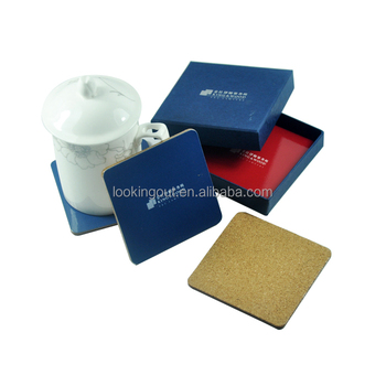 china hi-quality give away customised cork coaster 8