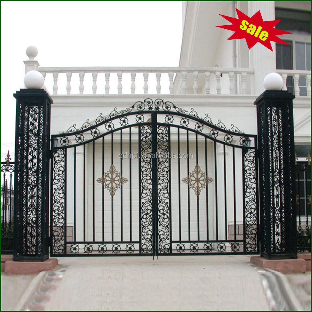 Wrought iron gate metal yard buy