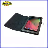 Black Stand Leather Case For Google Nexus 7 High Quality