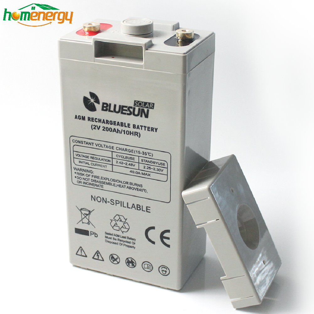 Bluesun agm 2v 200ah battery price exide battery