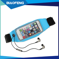 Wholesale innovative mobile phone running accessories waist pack pouch bag case with zipper for iphone 6 7 7plus