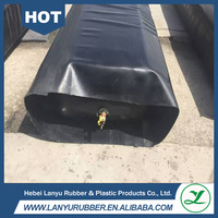 Culvert formwork and bridge concrete making component Inflatable mandrel