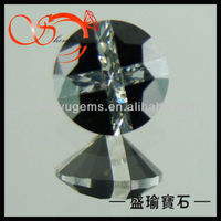 gemstone price list round mix colored cross cubic zirconia cz gemstone(CZRD08923)