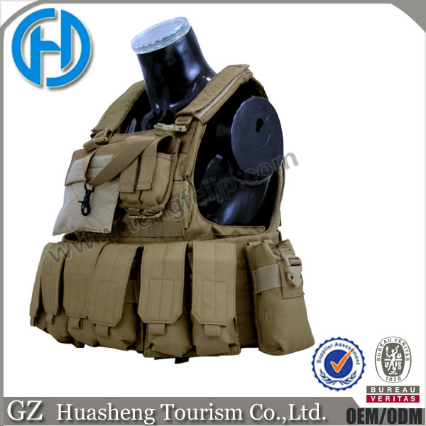 Tan waterproof bulletproof vest body armor for sale