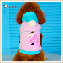 2015 pet dog costume coral fleece clothing with hoodies for dog clothes