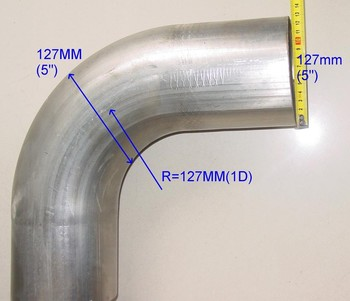 "OEM BIG SIZE EXHAUST PIPE MANDREL BEND 304 STAINLESS STEEL 5"" 90 DEGREE"