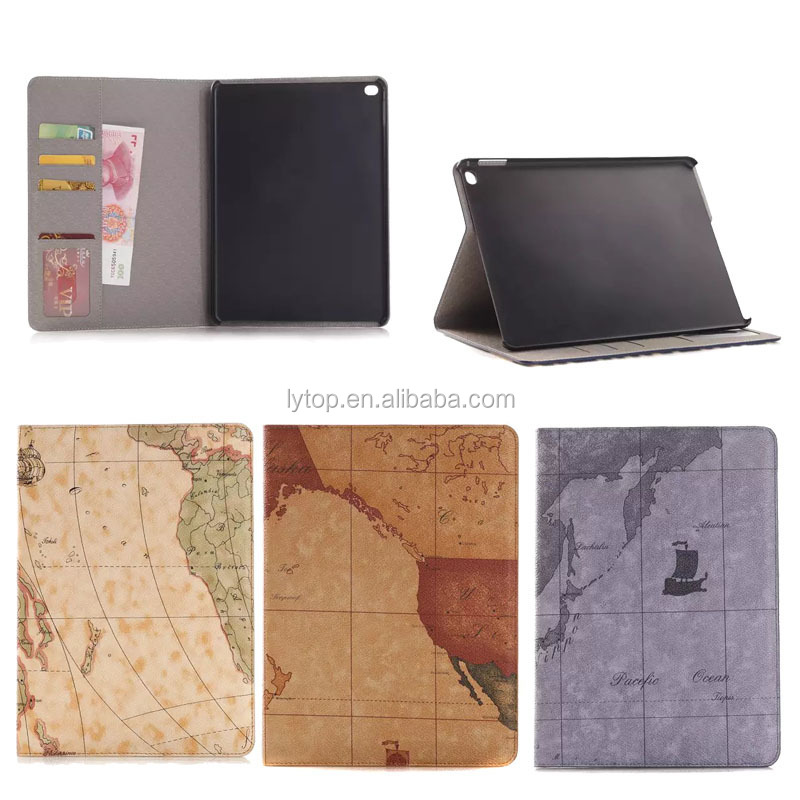 Map Wallet Leather Case Cover For iPad Air 2