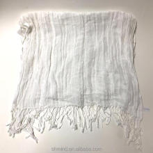 Women Cotton Linen Scarf Fashion Warm Solid Colors Shawl
