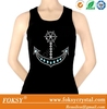 shining anchor hotfix iron on nailhead transfer lovers of stringer tank top