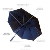 Custom Europe Popular Gift 27 Inch Auto Open Golf Umbrella