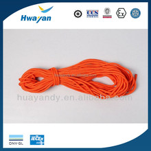 marine HUAYAN lifebuoy red PP material 30m buoyant lifeline