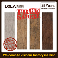 wood design ceramic floor tile,25 years factory new store no profits for sale