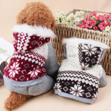 High quality warm winter snow print four-leg dog coat pet clothes
