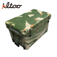 Large size cheap camping insulation ice box 75l with lock