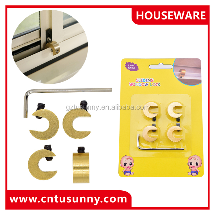 safety products sliding window security locks good quality brass lock