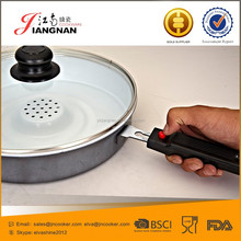 Forged Enamel Ceramic Coating Grill Pan With Stainless Steel Handle