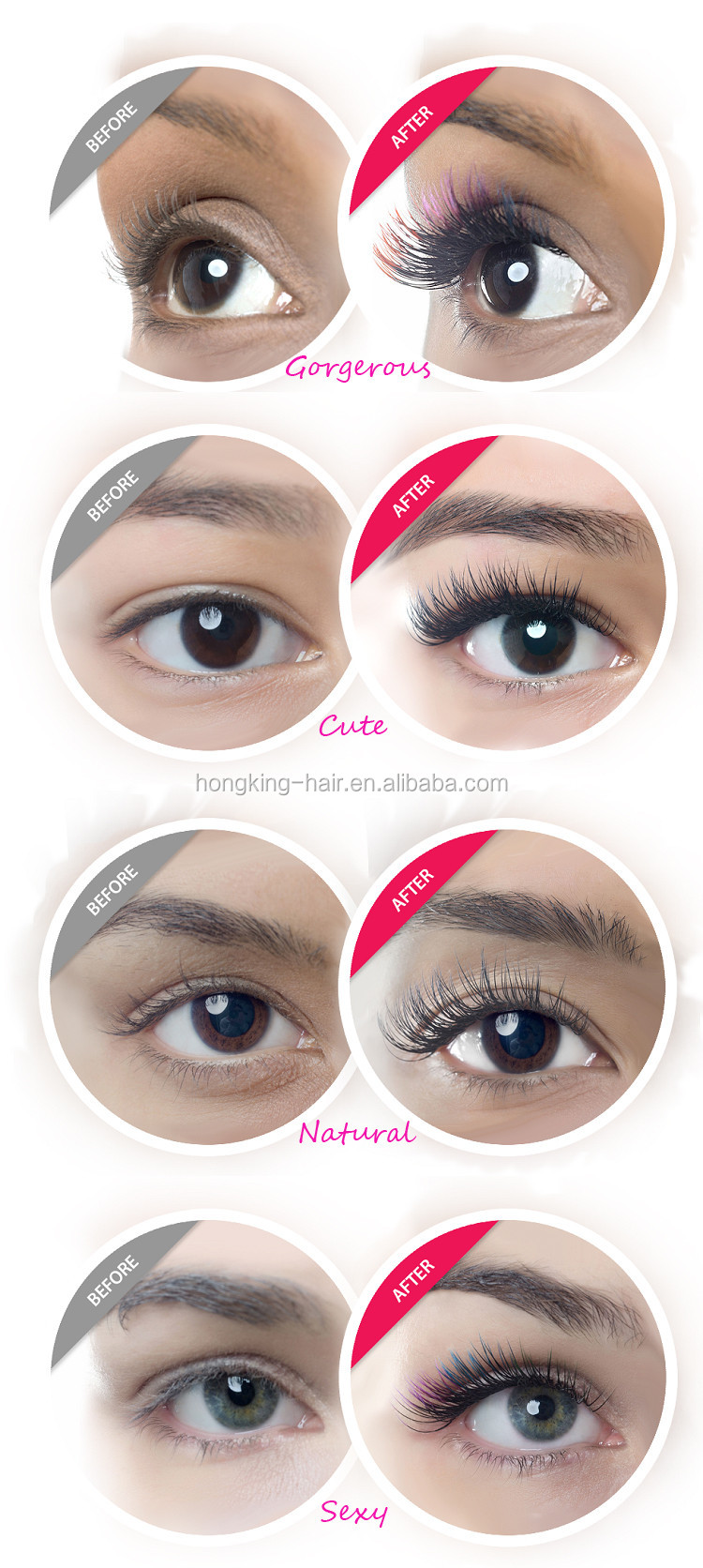 Korean Eyelash Extensions Silk and Individual Fales Lashes