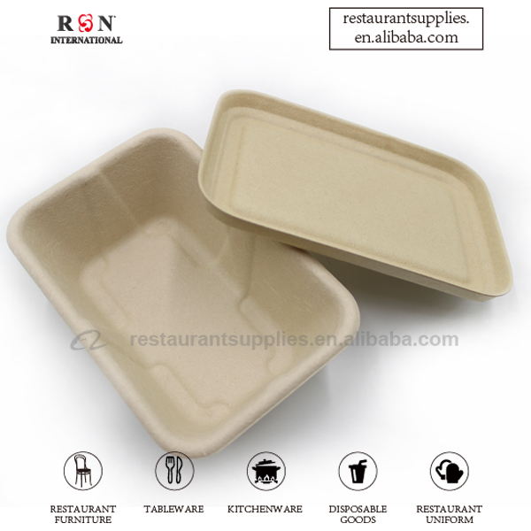 Biodegradable Sugar Cane Food Container Take Away Food Box