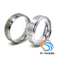 Grid Tungsten Carbide Wedding Band Satin Finish Tungsten Ring