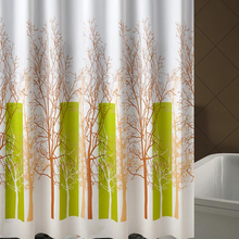 Hot selling fashion durable sturdy home goods printing shower curtain