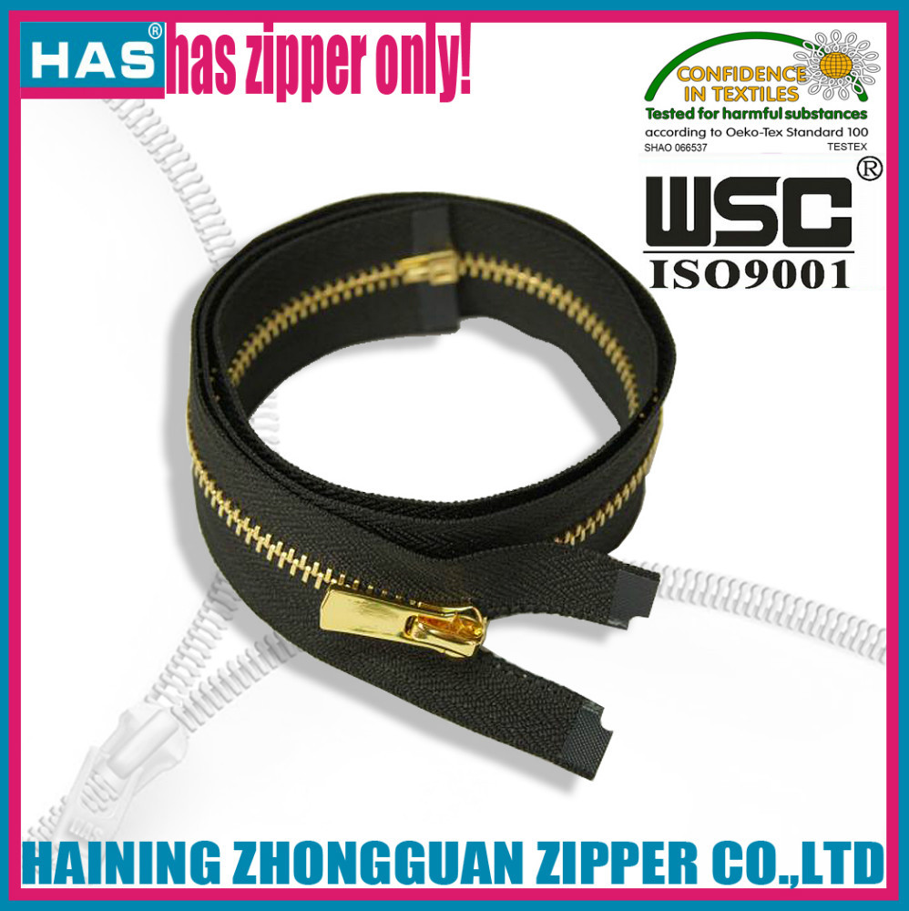 HAS zipper many kinds of zippers decorative fancy fabric metal fasteners for bags
