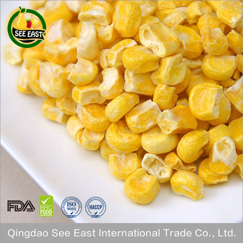 Bulk fruity vegetable snack freeze dried sweet corn dried corn