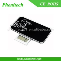 Black Electronic Personal Glass Mini Digital Weight Scale