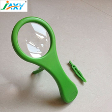 JAXY 5x75 promotional plastic novel hand free magnifier,magnifying glass with tweezers and bracket for elder reading and working