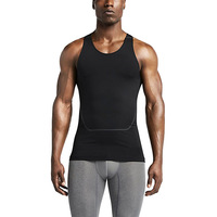 LANBAOSI Wholesale Breathable Sleeveless Men's Sports Training Vest Compression Tank Top