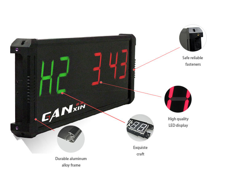[Ganxin]2017 Hot 4'' Led Crossfit Timer Supplier Electronic Digital Fitness Crossfit Interval Training Timer Clock