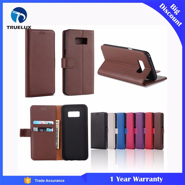 New Arrival PU Leather Wallet Case for Samsung Galaxy S5 Litchi Pattern Case