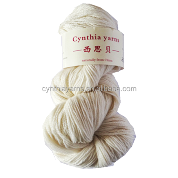 Undyed Pure Cashmere Yarn Fingering Natural White Color Handknitting Yarn