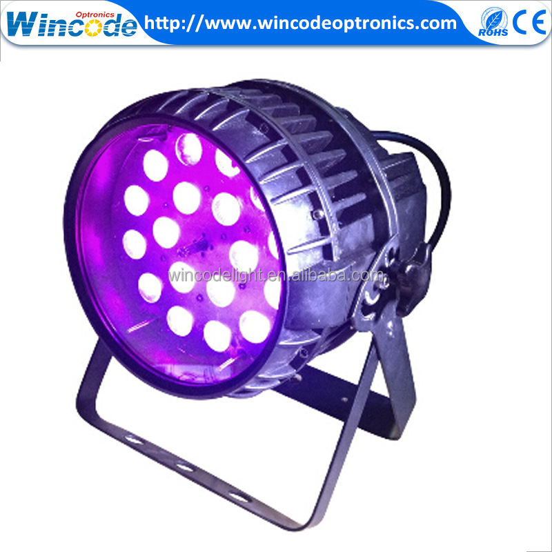 18x10W IP65 Waterproof RGBW 4 in 1 LED Zoom Par Light With DMX Control Of Stage Lighting