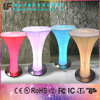 China Cheap European Style Modern Fashion Energy Saving Different Color Changing LED Glowing Pub Furniture LED Flashing Table