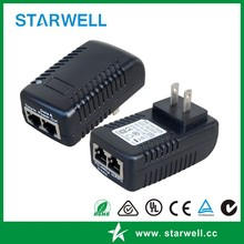 24W 24V 1A PoE adapter , Power over Ethernet AC To DC Power Supply