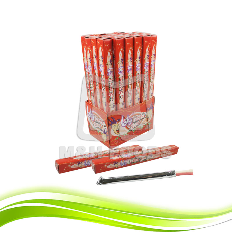 Loly Stick Strawberry Sour Flavor Bubble Gum