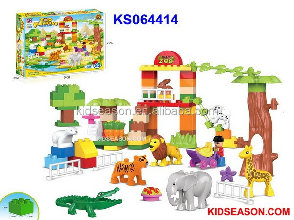 PRESCHOOL EDUCATIONAL BUILDING BLOCK 85PCS - HAPPY ZOO