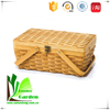 fruit picnic storage bamboo basket with lid